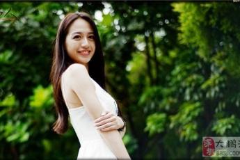 发几张美女在深圳园博园拍摄的写真图片