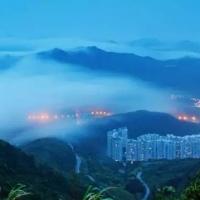 在梧桐山上看到的绝美风景照片