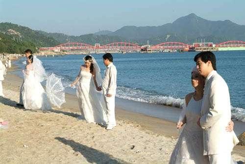 小梅沙婚纱摄影